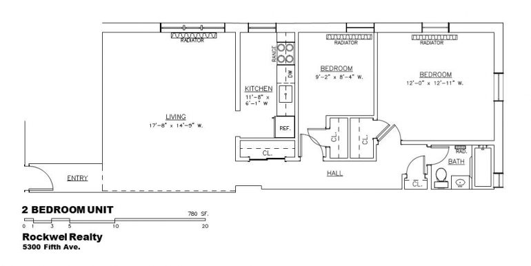 2 Bed Unit B Layout Apt _ A3, B2, and C2